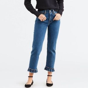 Levi's Wedgie Straight Ruffle My Feathers Jeans